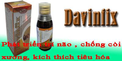 Davinfix: Phát triển trí não, chống còi xương, kích thích tiêu hóa