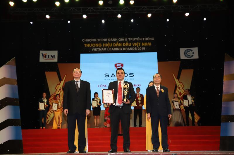 Sakos được vinh danh Top 10 Thuơng hiệu dẫn đầu Việt Nam 2019